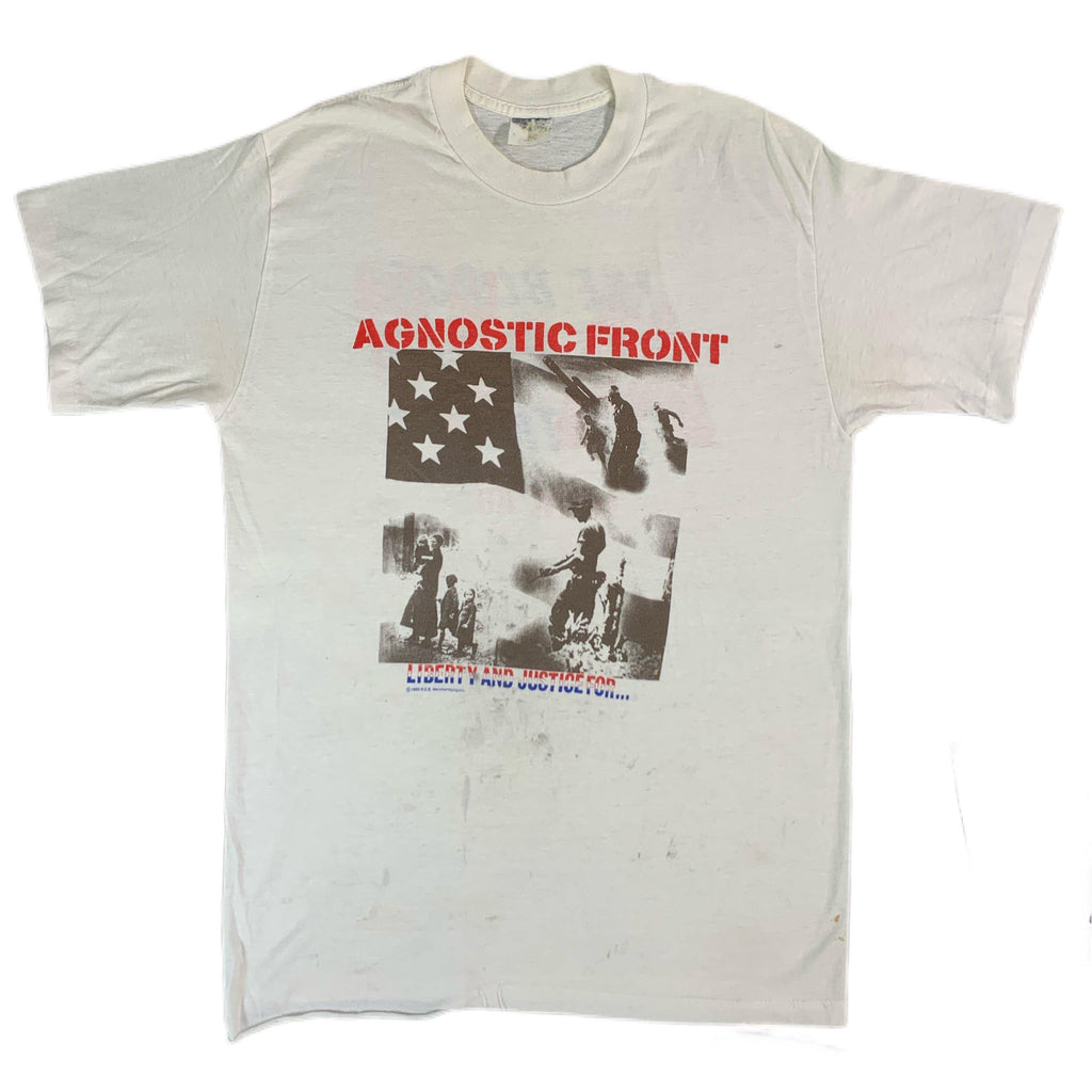 "Vintage Agnostic Front ""Liberty And Justice For..."" Tour T-Shirt"