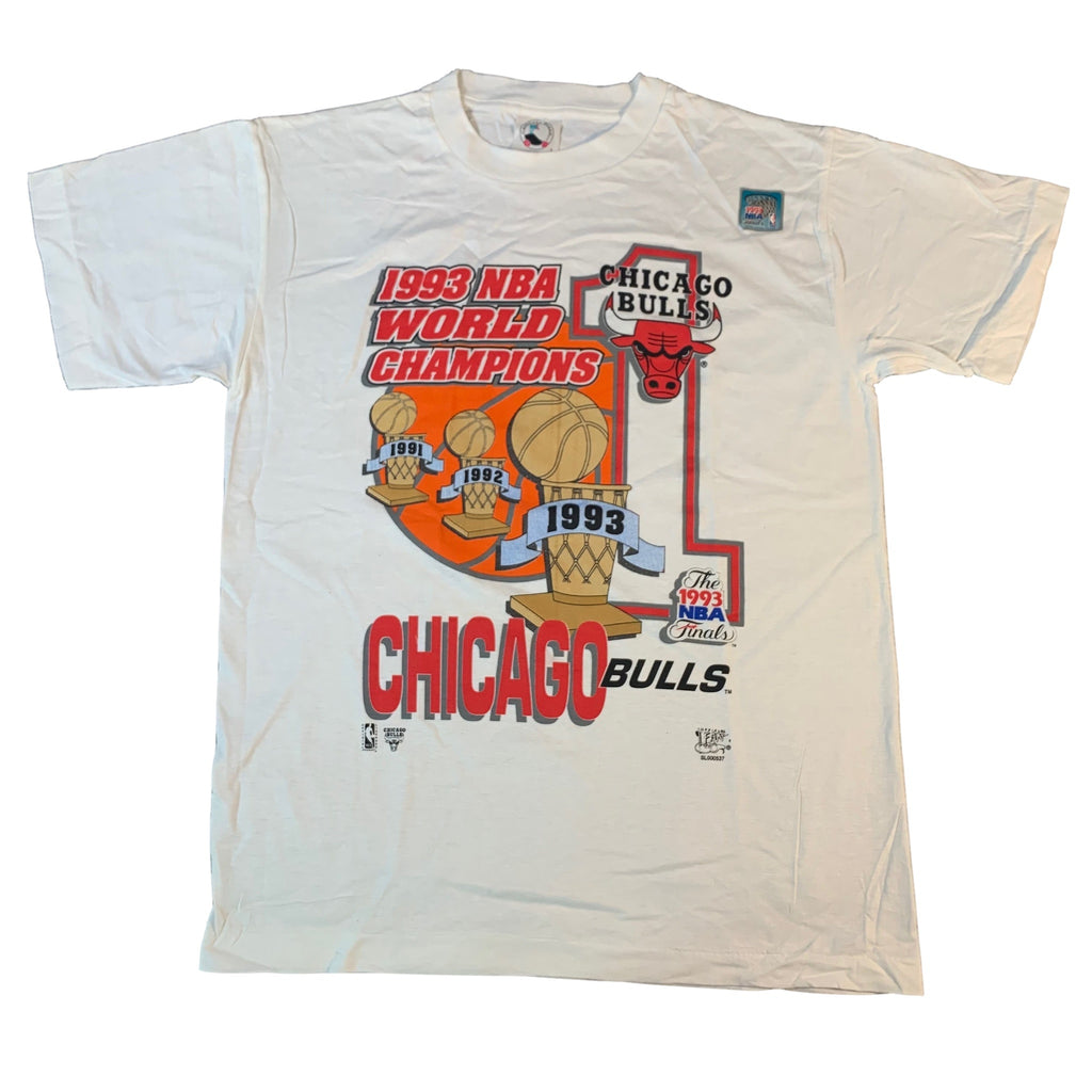 "Vintage Chicago Bulls ""'93 World Champions"" T-Shirt"