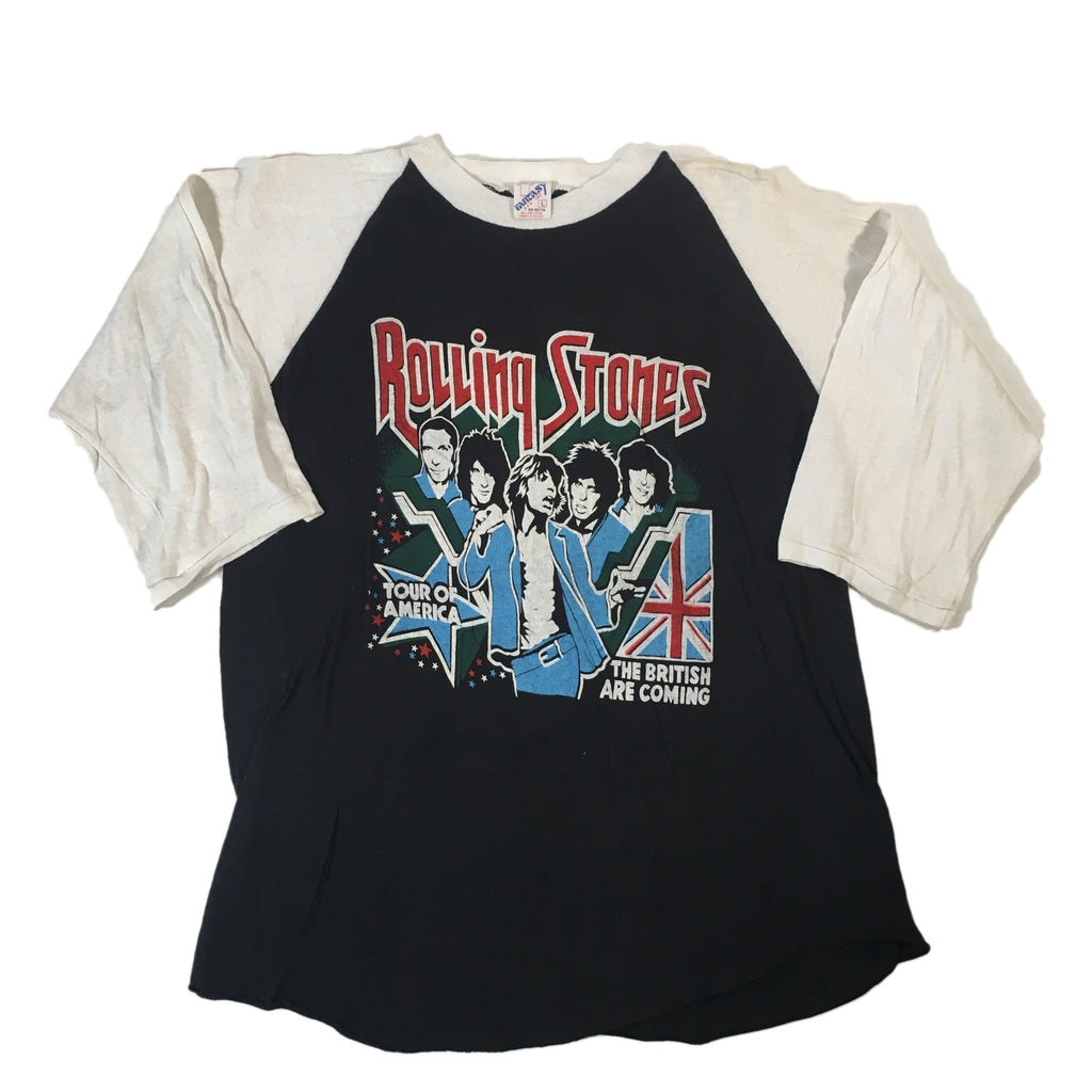 "Vintage Rolling Stones ""The British Are Coming"" Raglan"