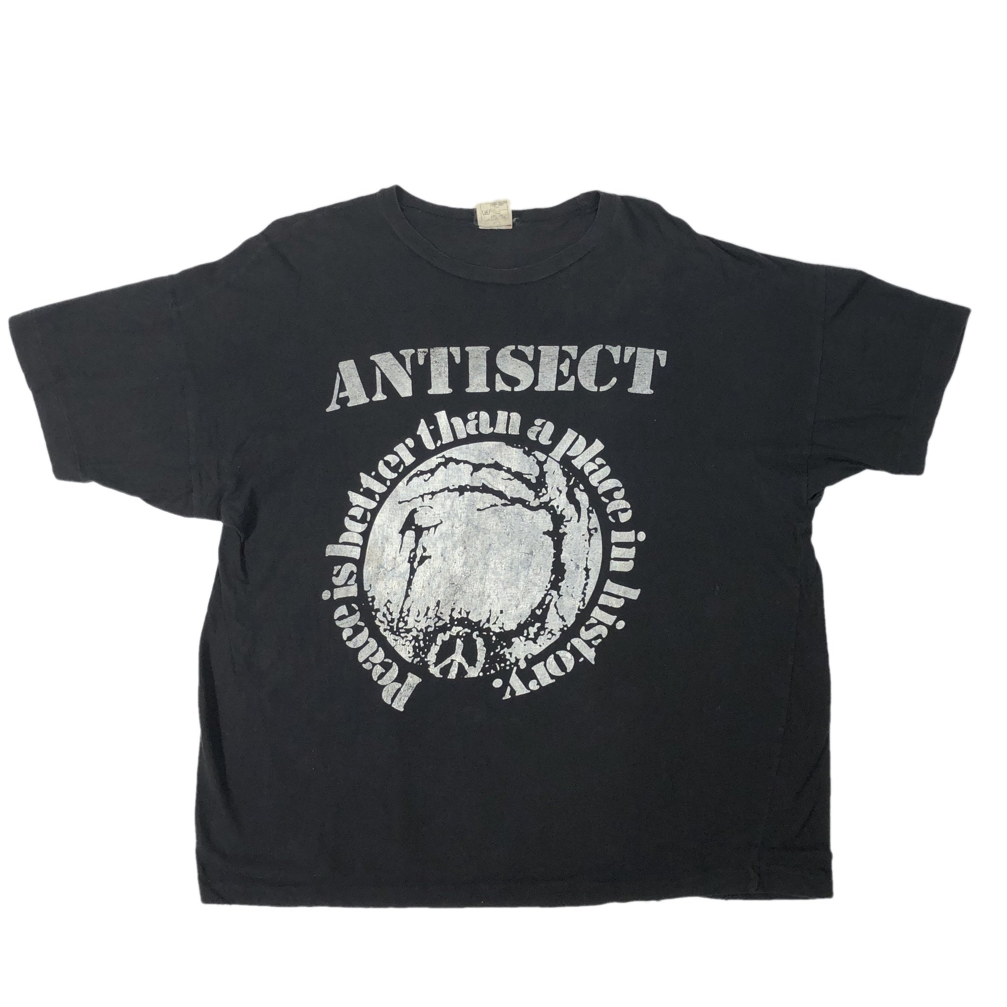 "Vintage Antisect ""Peace is Better Than A Place In History"" T-Shirt"