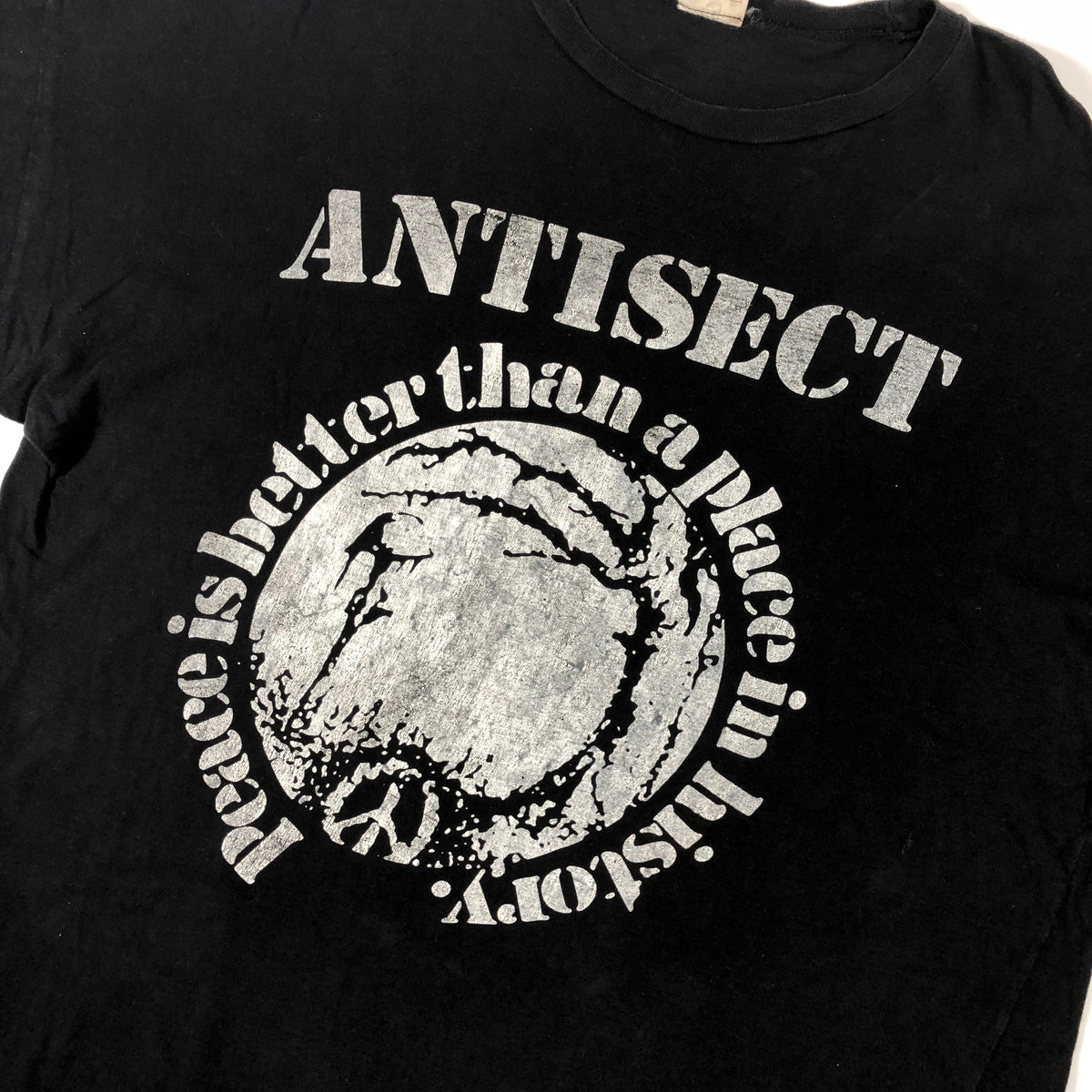 "Vintage Antisect ""Peace is Better Than A Place In History"" T-Shirt - jointcustodydc"