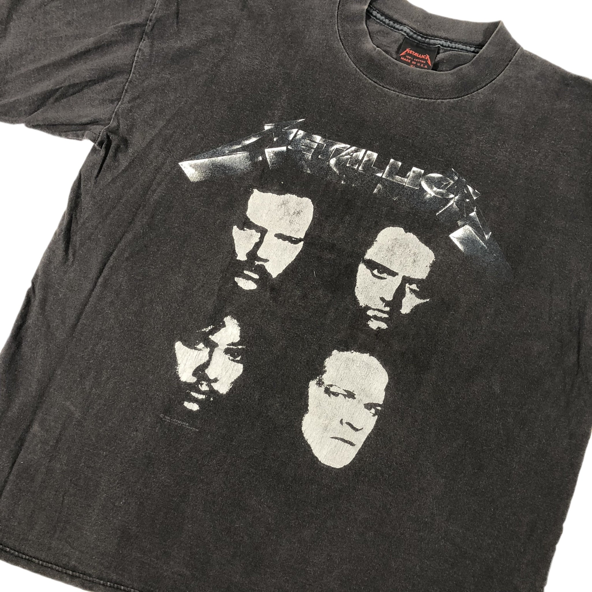 "Vintage Metallica ""Black Album Faces"" T-Shirt - jointcustodydc"