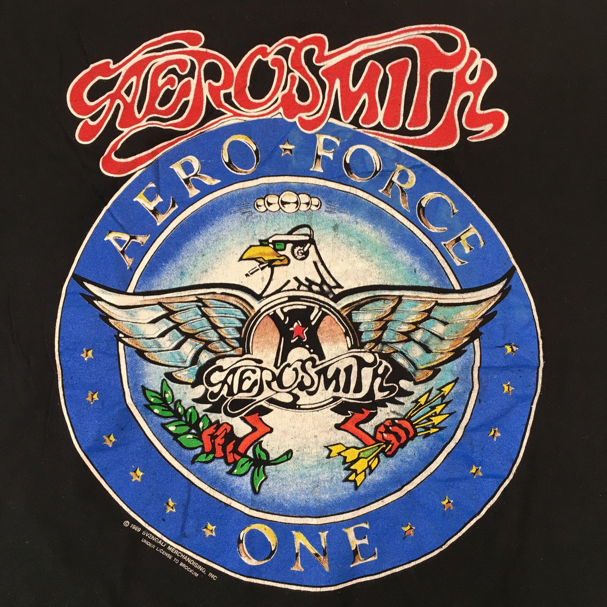 "Vintage Aerosmith ""Aero-force"" T-Shirt - jointcustodydc"