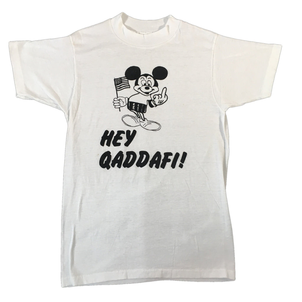 "Vintage Mickey Mouse ""Hey Qaddafi"" T-Shirt"