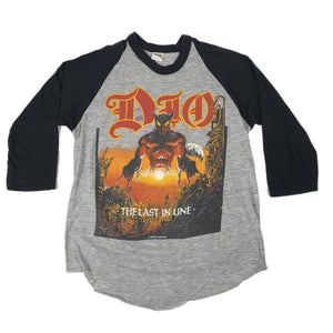 "Vintage Dio ""The Last In Line Tour"" Raglan T-Shirt - jointcustodydc"