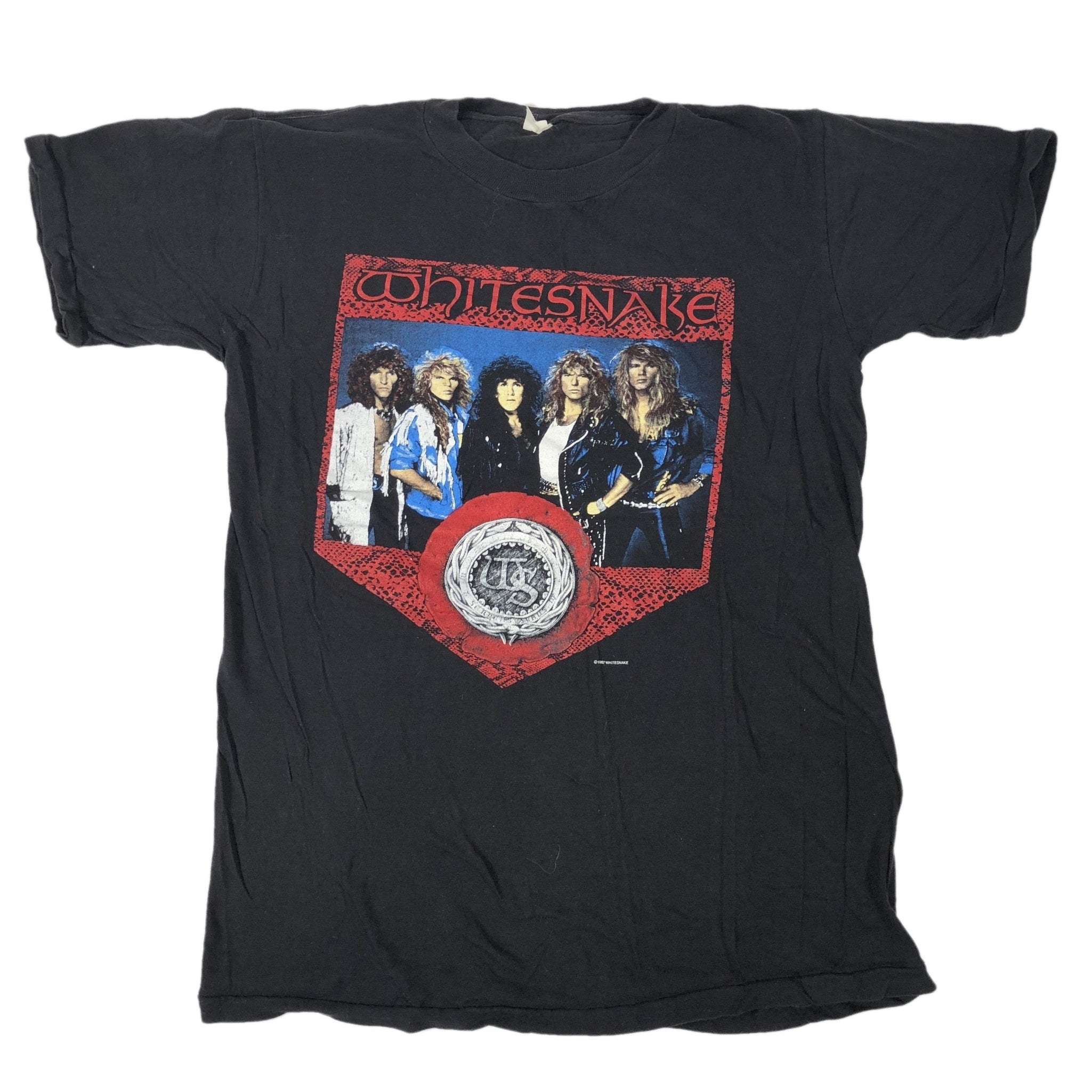 "Vintage Whitesnake ""North American Tour '87-88"" T-Shirt - jointcustodydc"