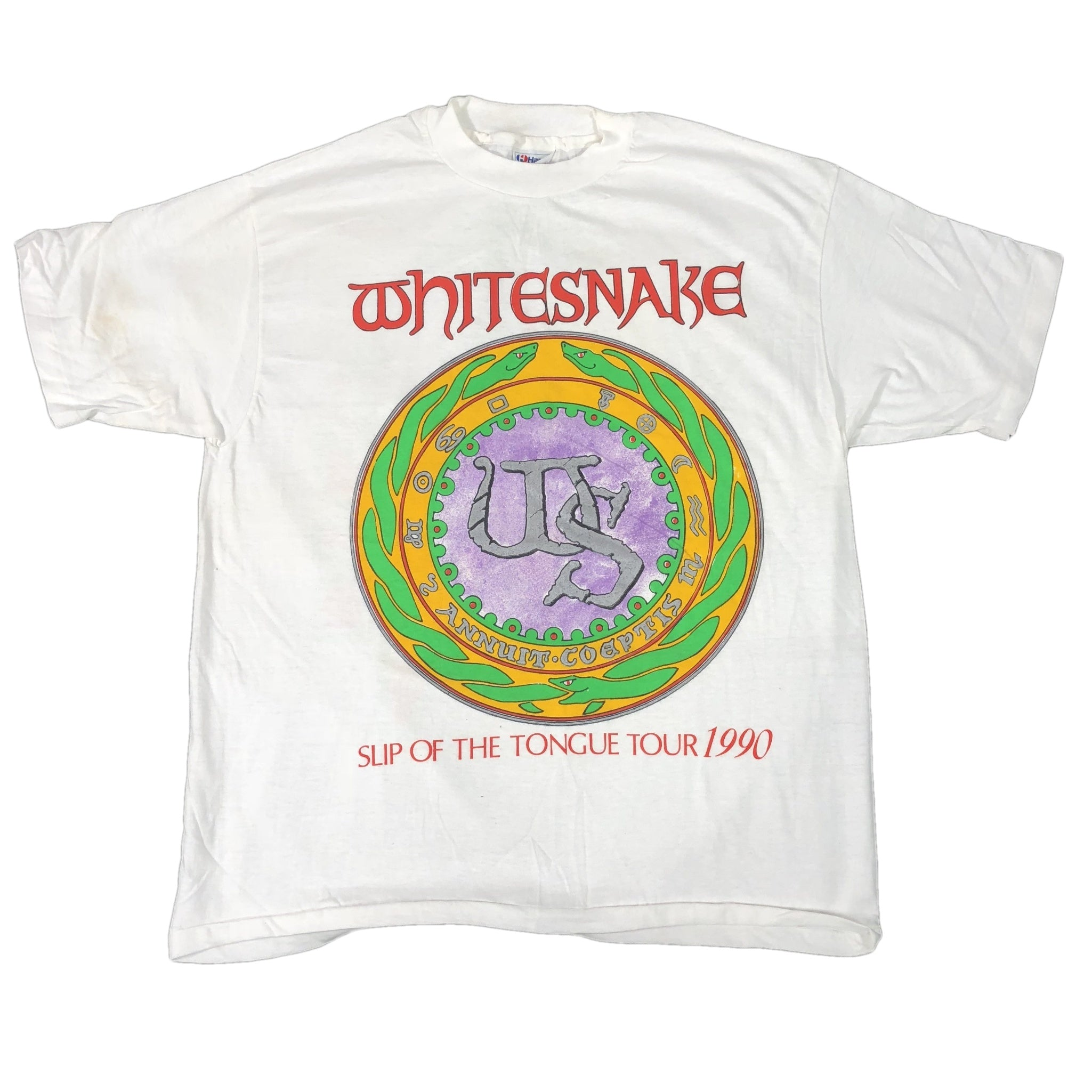 "Vintage Whitesnake ""Slip Of The Tongue Tour"" T-Shirt"