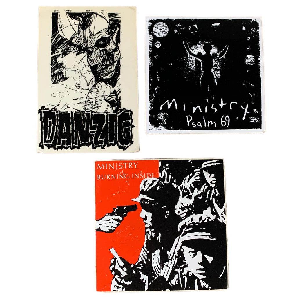 "Vintage Ministry Danzig ""Metal"" Sticker Lot"