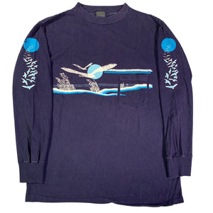 "Vintage Sunset ""Seagull"" Long Sleeve Shirt"
