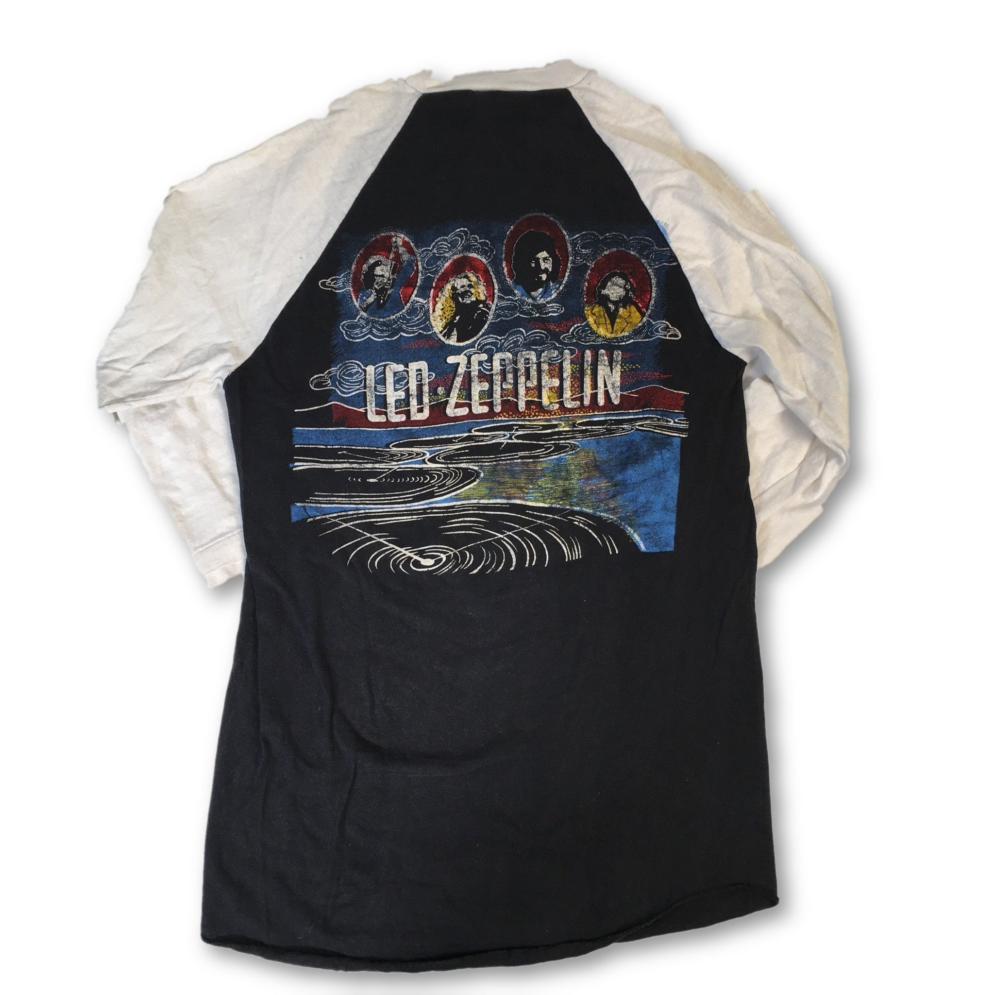 "Vintage Led Zeppelin ""Record"" Raglan"