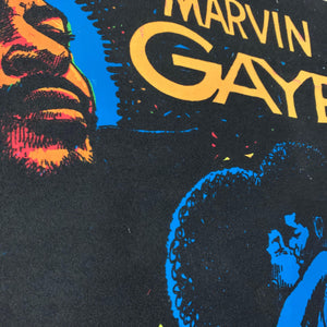 "Vintage Marvin Gaye ""Let's Get It On"" Black Light Poster"