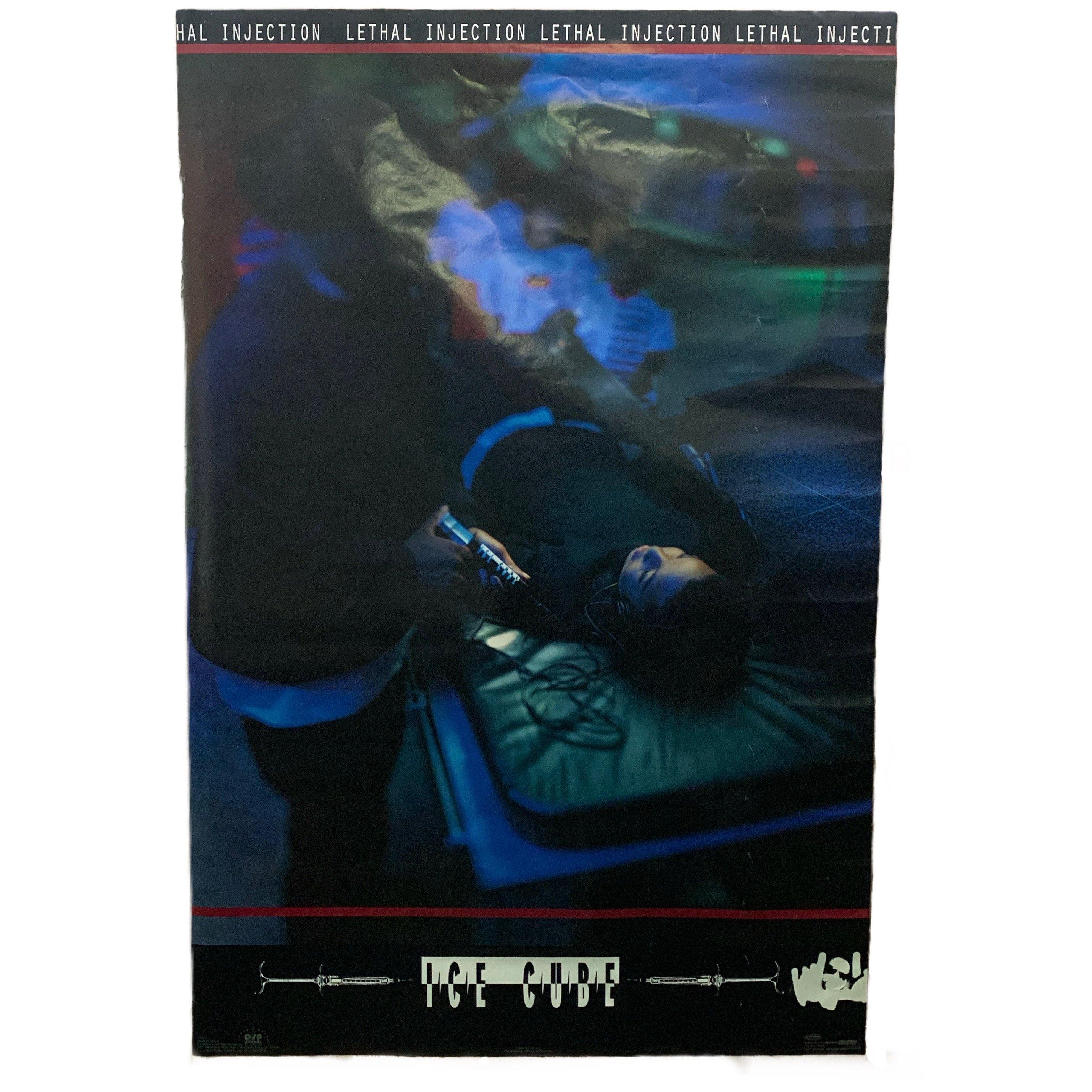 "Vintage Ice Cube ""Lethal Injection"" Death Row Promo Poster"