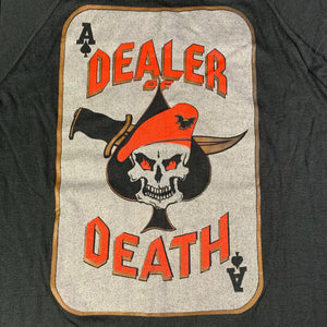 Vintage Original Aces Dealer of Death Raglan Shirt Graphic Detail