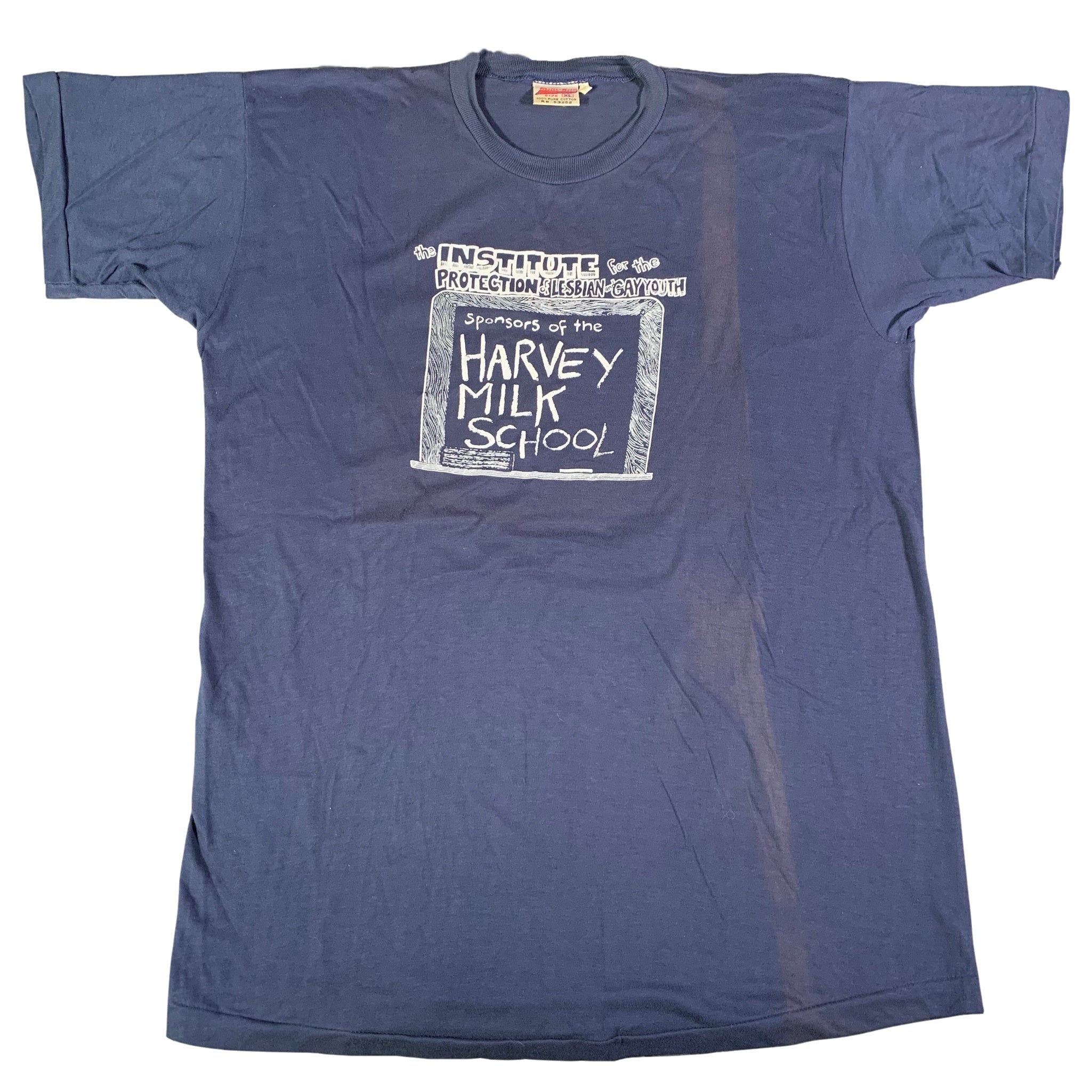 "Vintage Harvey Milk ""Institute Of The Protection Of Lesbian & Gay Youth"" T-Shirt"