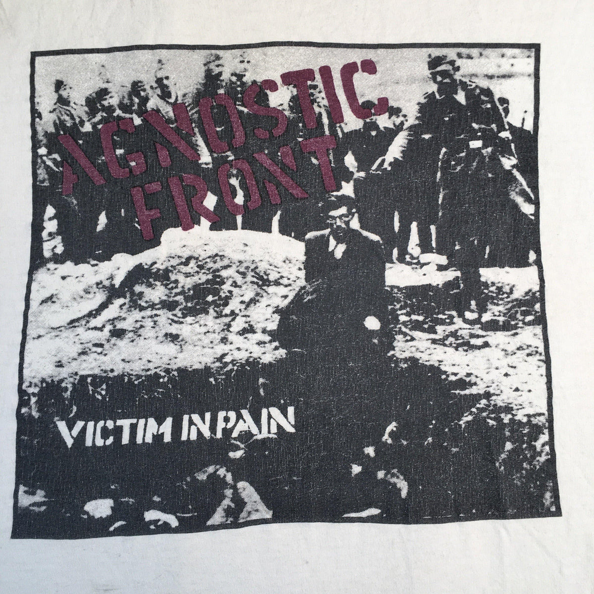 Vintage Original Agnostic Front Victim In Pain Shirt detail