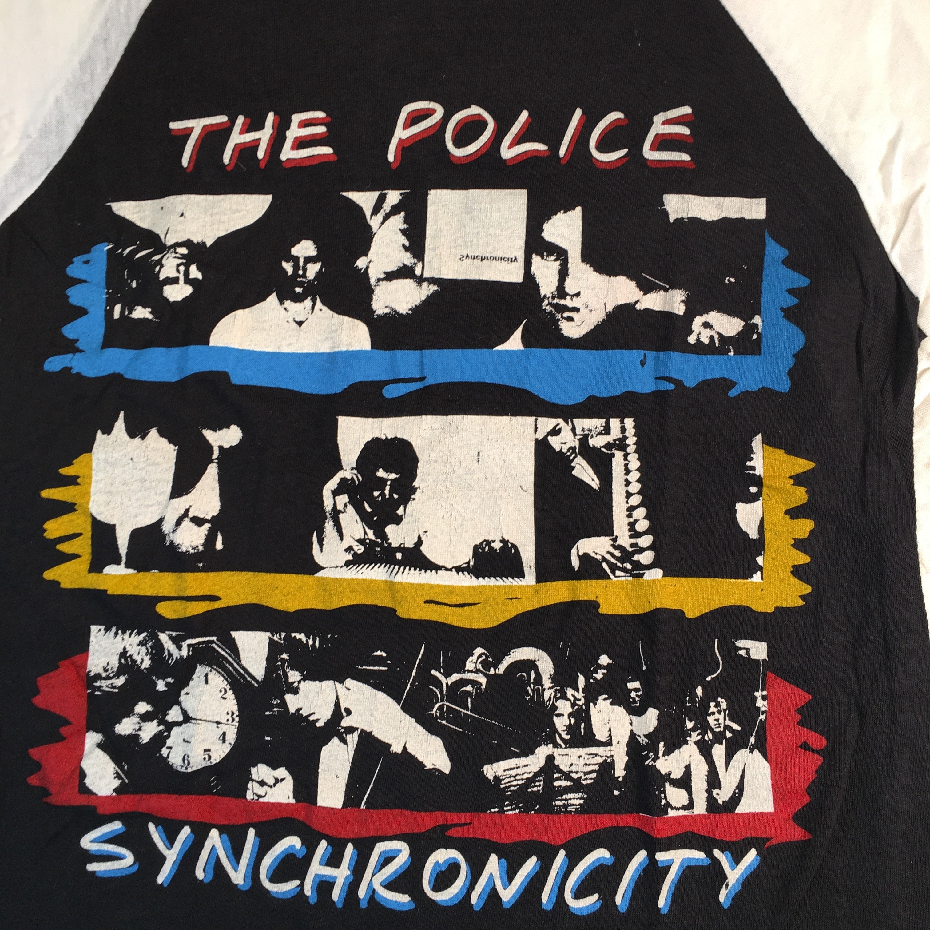 "Vintage The Police ""Synchronicity"" Raglan"