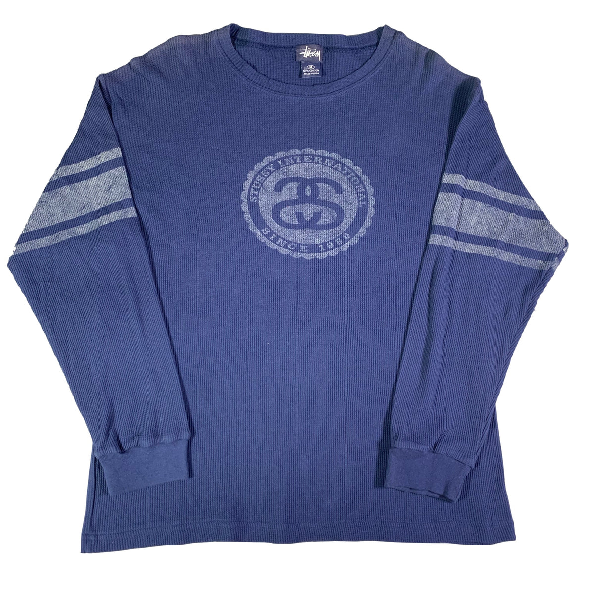 "Vintage Stussy ""Stussy International"" Long Sleeve Thermal"