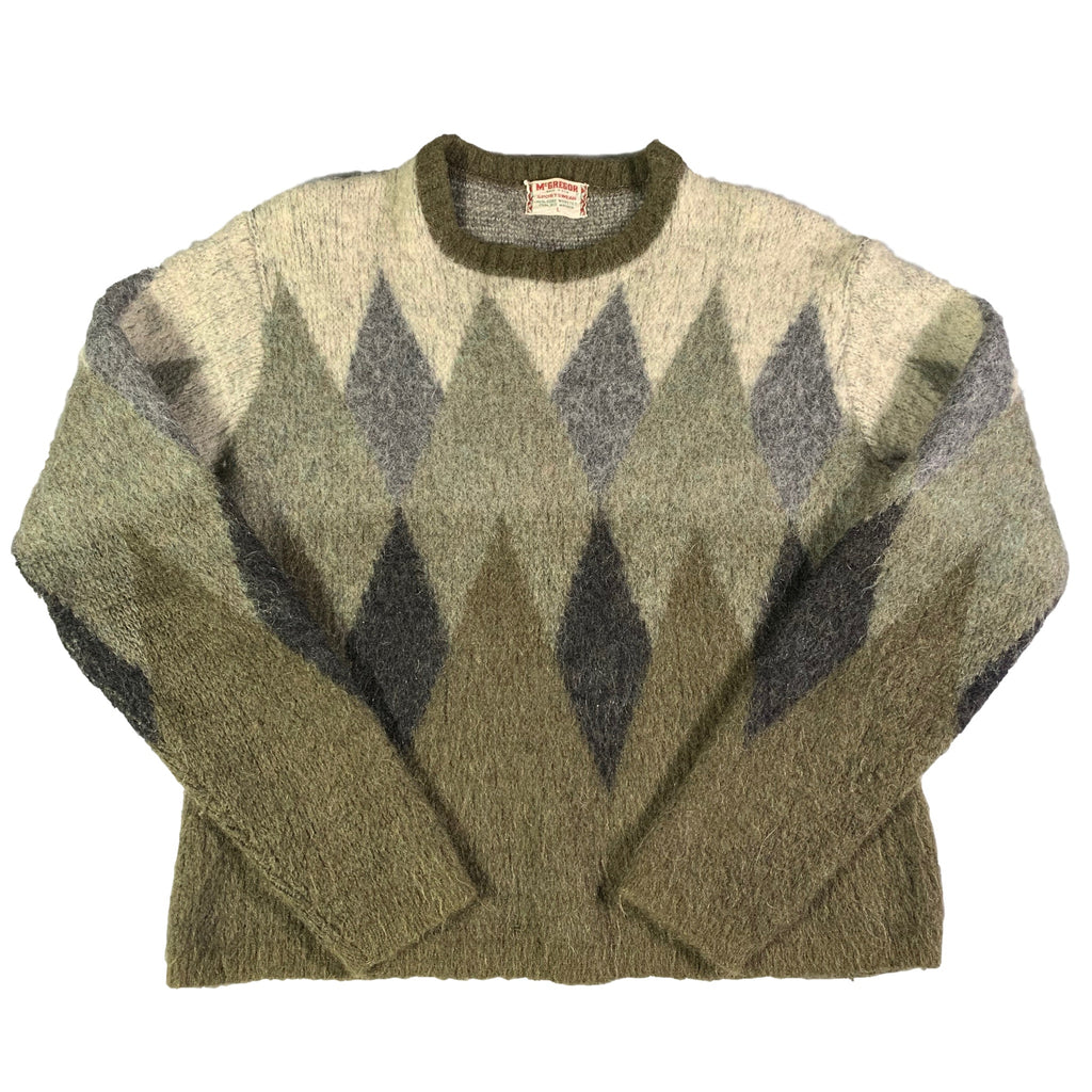 "Vintage McGregor ""Argyle"" Kid's Mohair Knit Jumper"