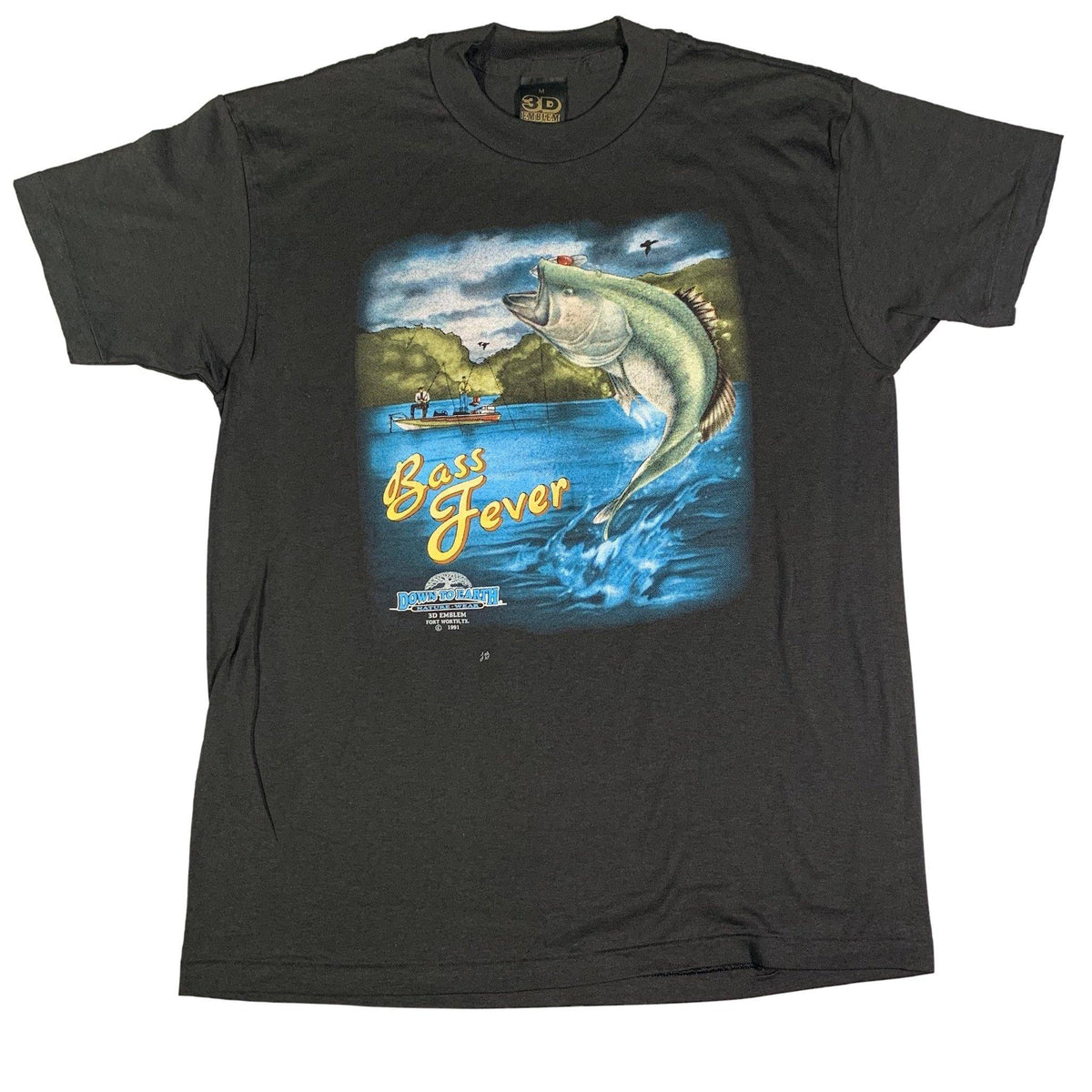 "Vintage 3D Emblem ""Down To Earth"" Bass Fever T-Shirt - jointcustodydc"