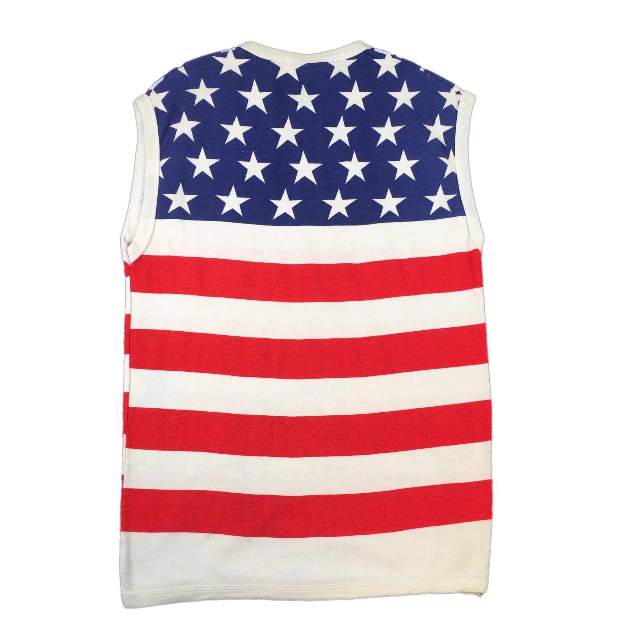 "Vintage Fame London ""American Flag"" Sleeveless T-Shirt"