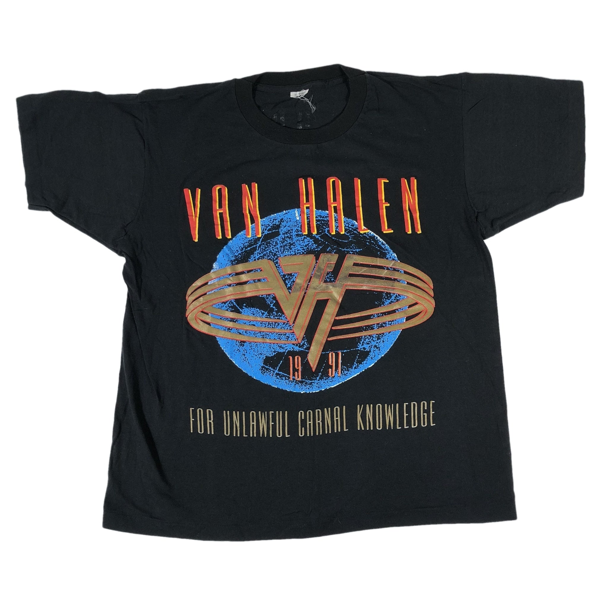 "Vintage Van Halen ""For Unlawful Carnal Knowlege"" ""Death Star"" T-Shirt"