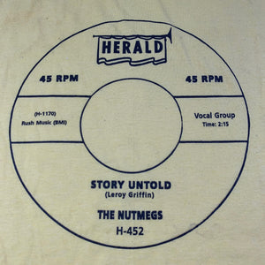 "Vintage The Nutmegs ""Story Untold"" T-Shirt"