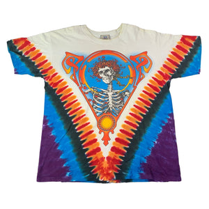 "Vintage Grateful Dead ""Skull And Roses"" Tie Dye T-Shirt"