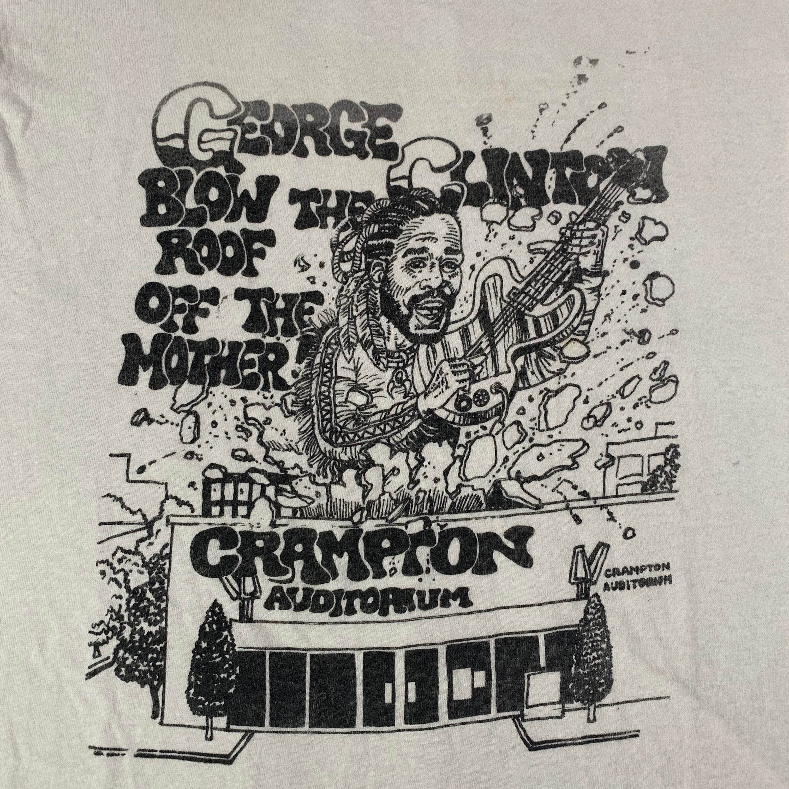 "Vintage George Clinton Parliament Funkadelic ""Blow The Roof Off DC"" T-Shirt"