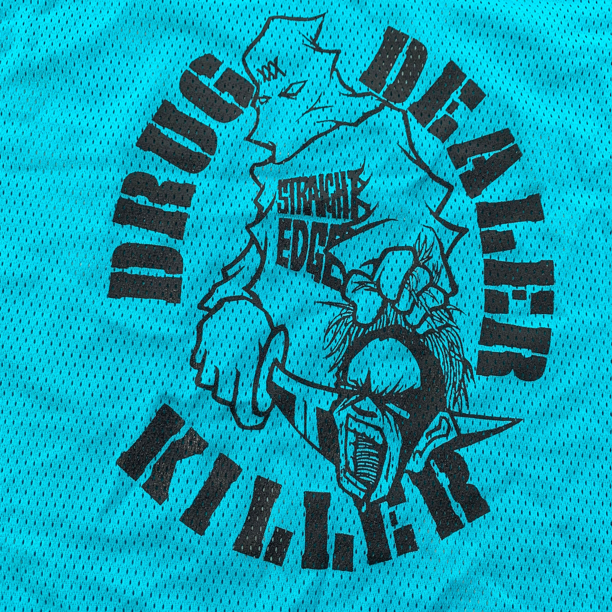 "Vintage Straight Edge ""Drug Dealer Killer"" Hockey Jersey"