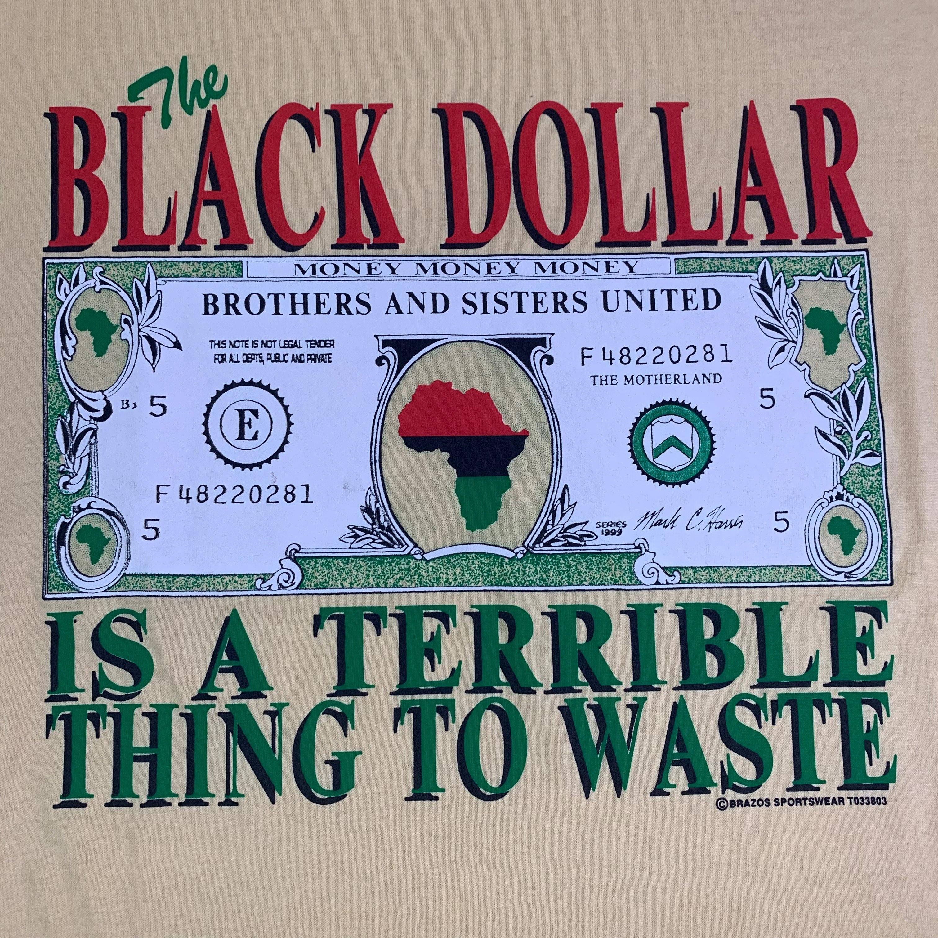 "Vintage Afrocentric ""The Black Dollar"" T-Shirt"
