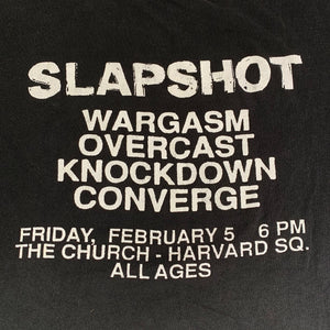 "Vintage Slapshot ""All Ages: Overcast, Converge"" T-Shirt"