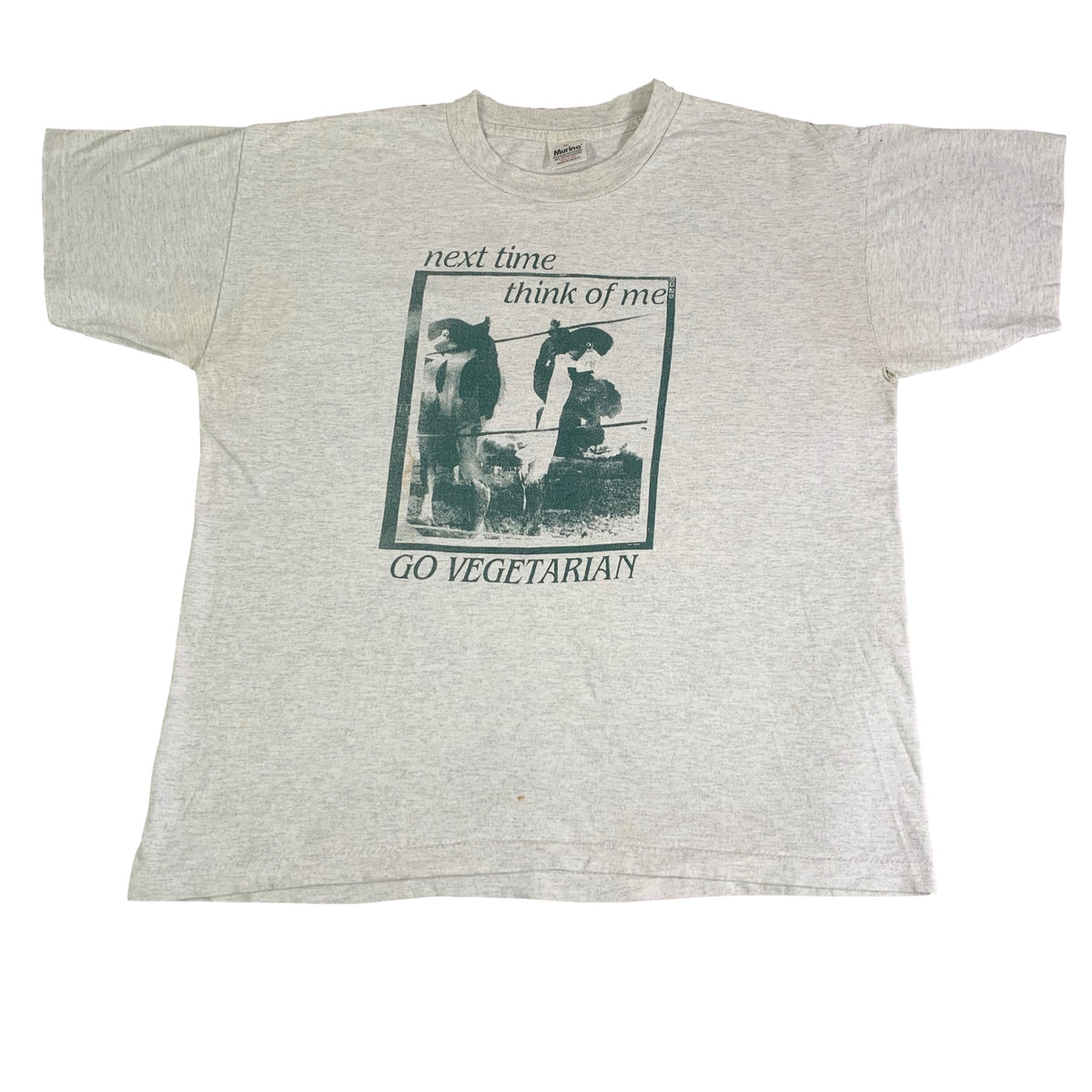 "Vintage New Age Records ""Go Vegetarian"" T-Shirt"