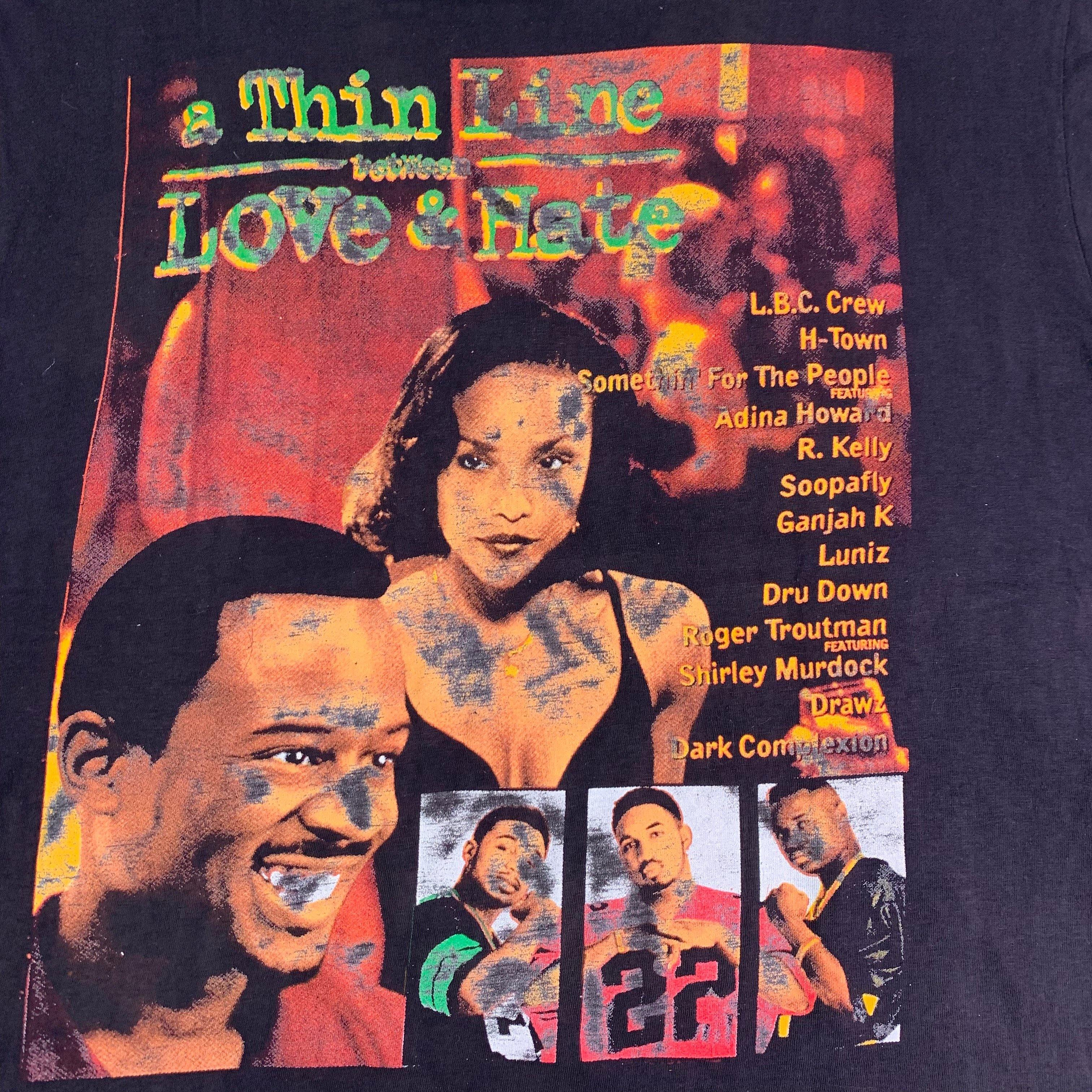 "Vintage 1996 A Thin Line Between Love And Hate ""H-Town"" T-Shirt"