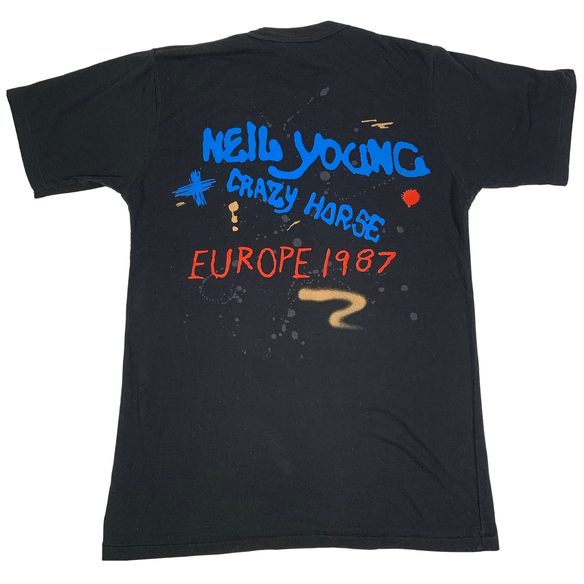 "Vintage Neil Young + Crazy Horse ""Europe 87'"" T-Shirt"