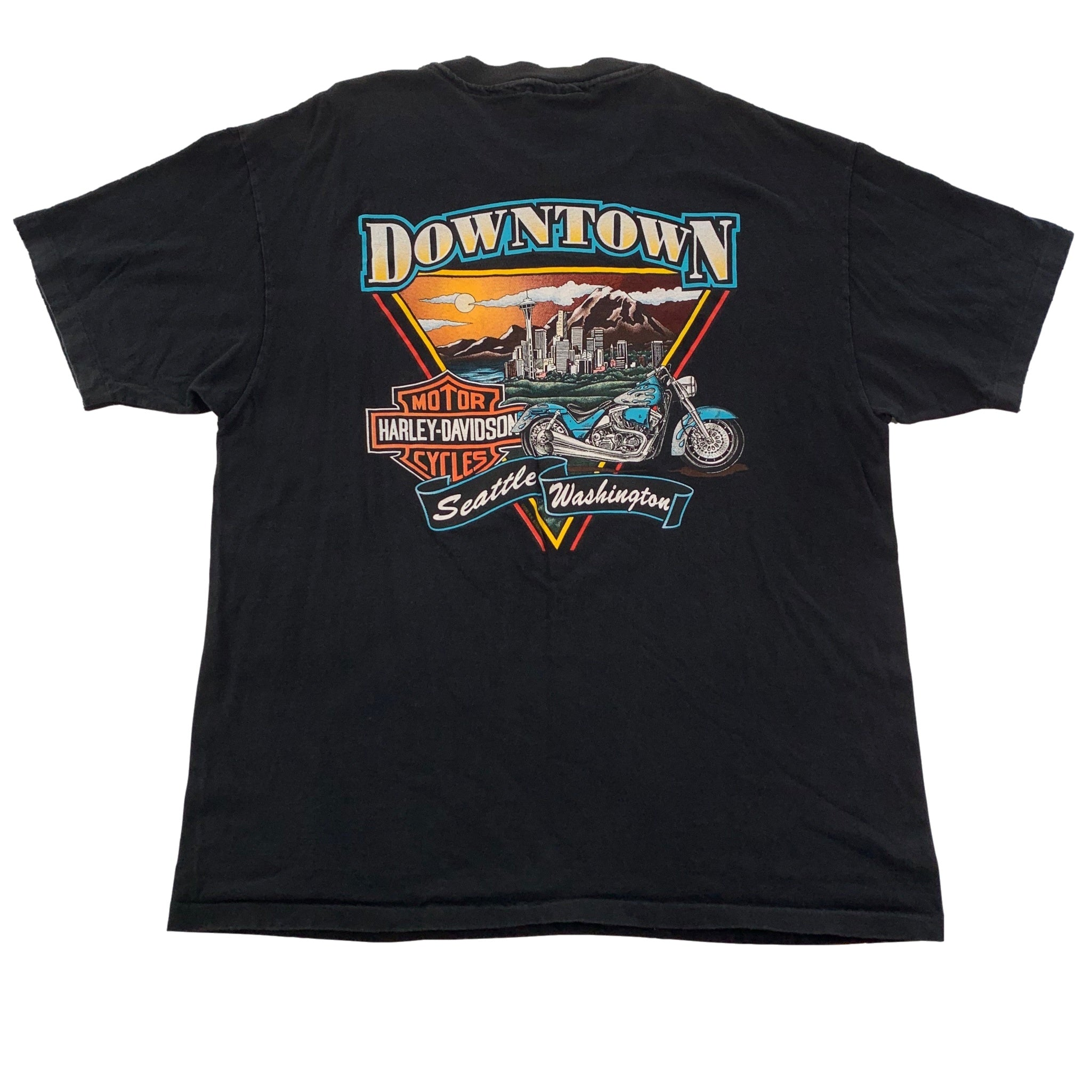 "Vintage Harley-Davidson "" Downtown Seattle"" T-Shirt"