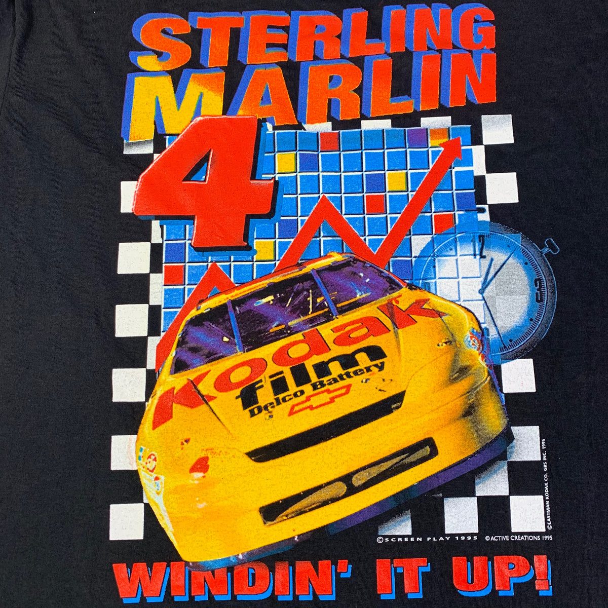 "Vintage Nascar Sterling Marlin ""Windin' It Up"" T-Shirt"