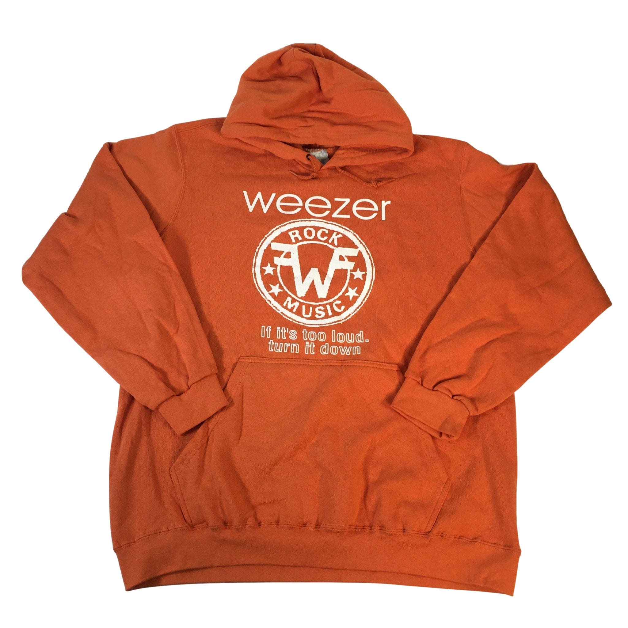 "Vintage Weezer ""If It's Too Loud, Turn It Down"" Hoodie"