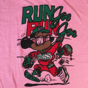 "Vintage Mickey Mouse ""Run Joe"" Bootleg T-Shirt"
