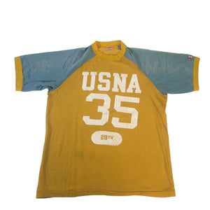 "Vintage Champion Blue Bar ""USNA"" Jersey"