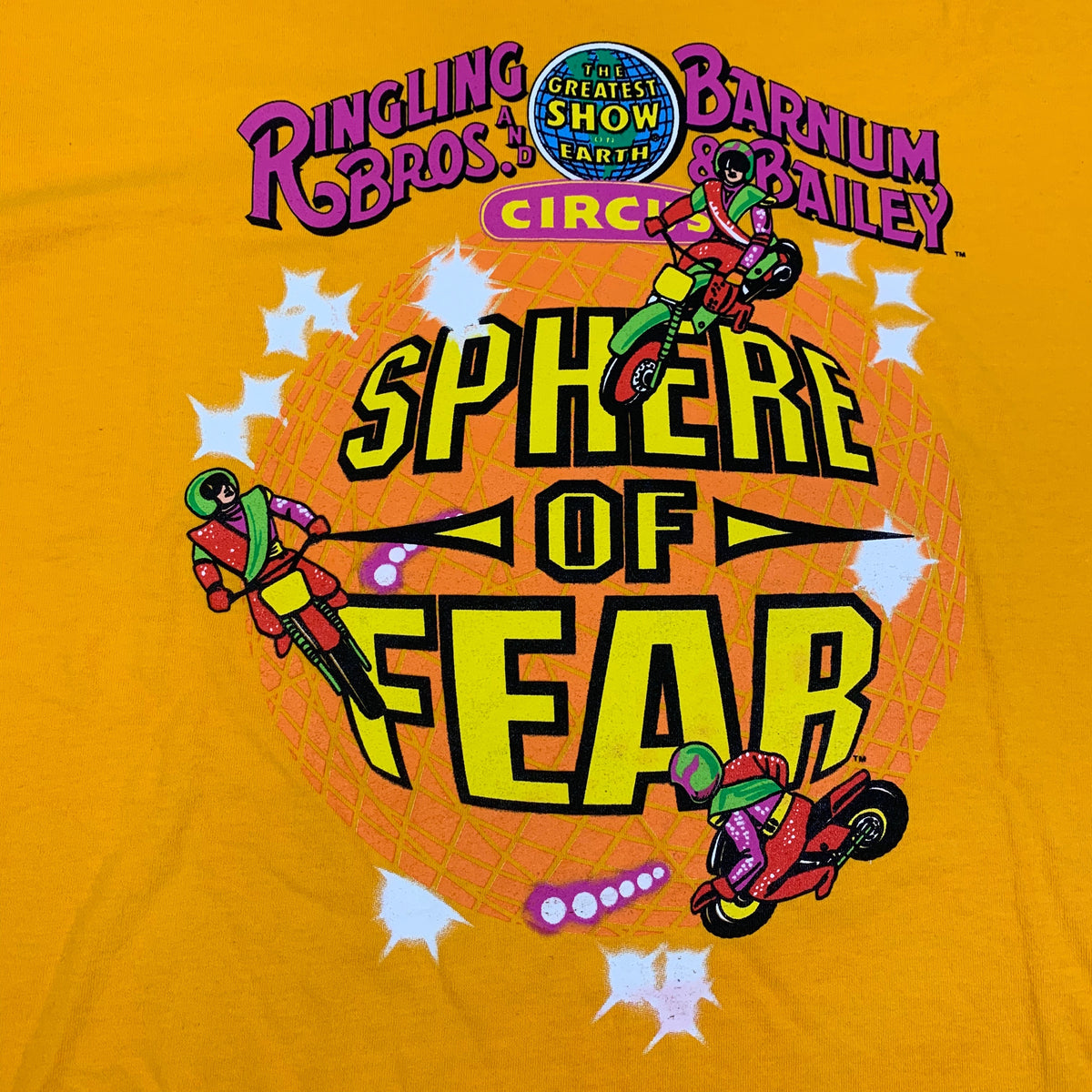 "Vintage Ringling Bros And Barnum & Bailey Circus ""Sphere Of Fear"" T-Shirt"