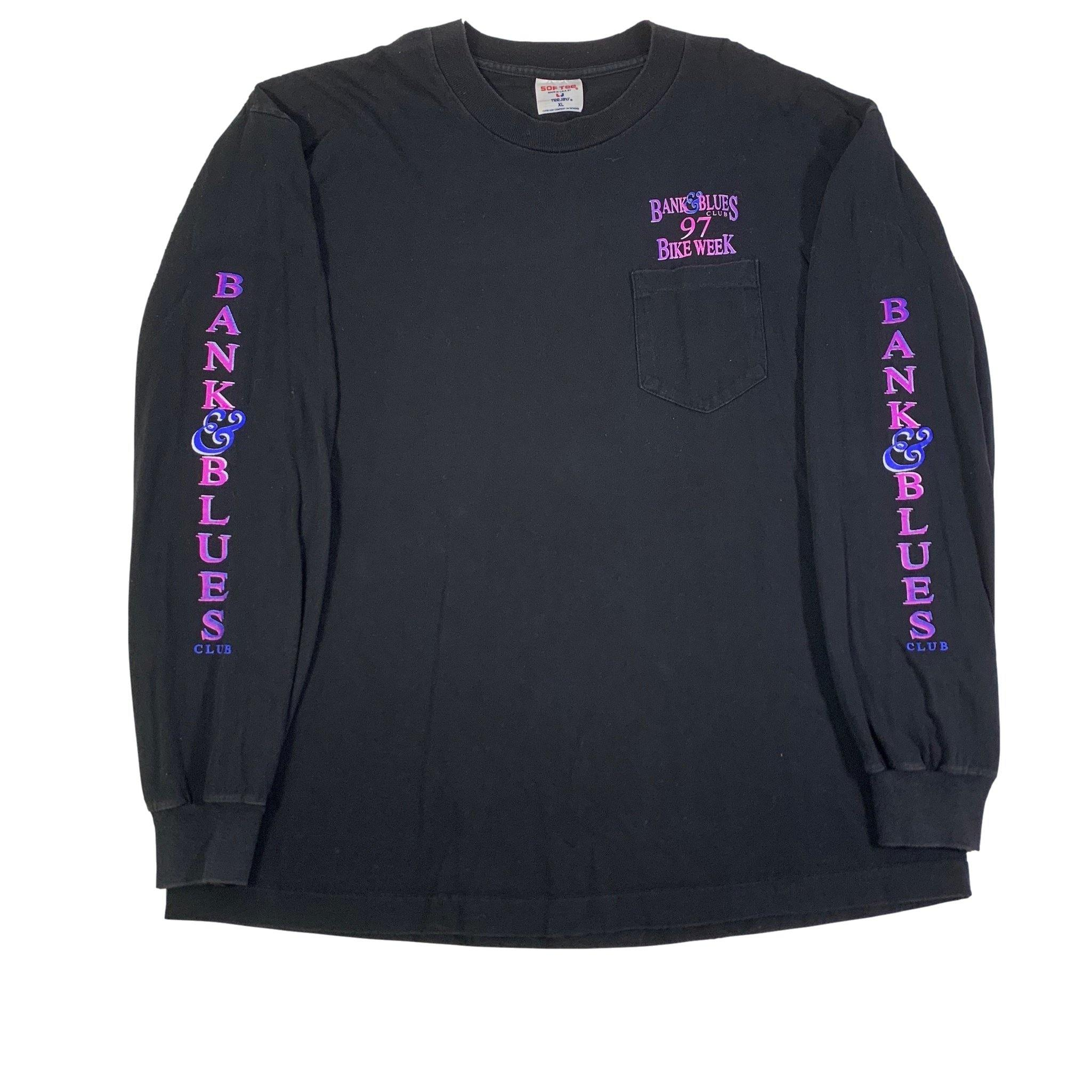 "Bank & Blues Club '97 ""Bike Week"" Long Sleeve Shirt"