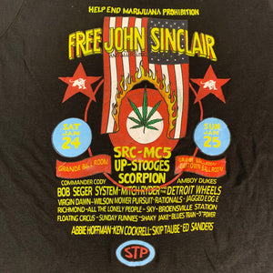 "Vintage John Sinclair MC5 ""Freedom Rally"" T-Shirt"