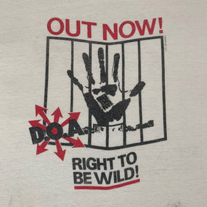 "Vintage D.O.A. ""Right To Be Wild"" T-Shirt"