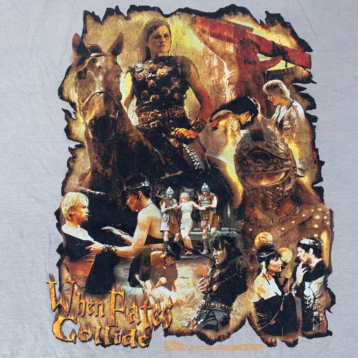 "Vintage Xena Warrior Princess ""When The Fates Collide"" T-Shirt"