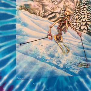 "Vintage Grateful Dead ""Skiing Skeleton"" Tie-Dye T-Shirt"