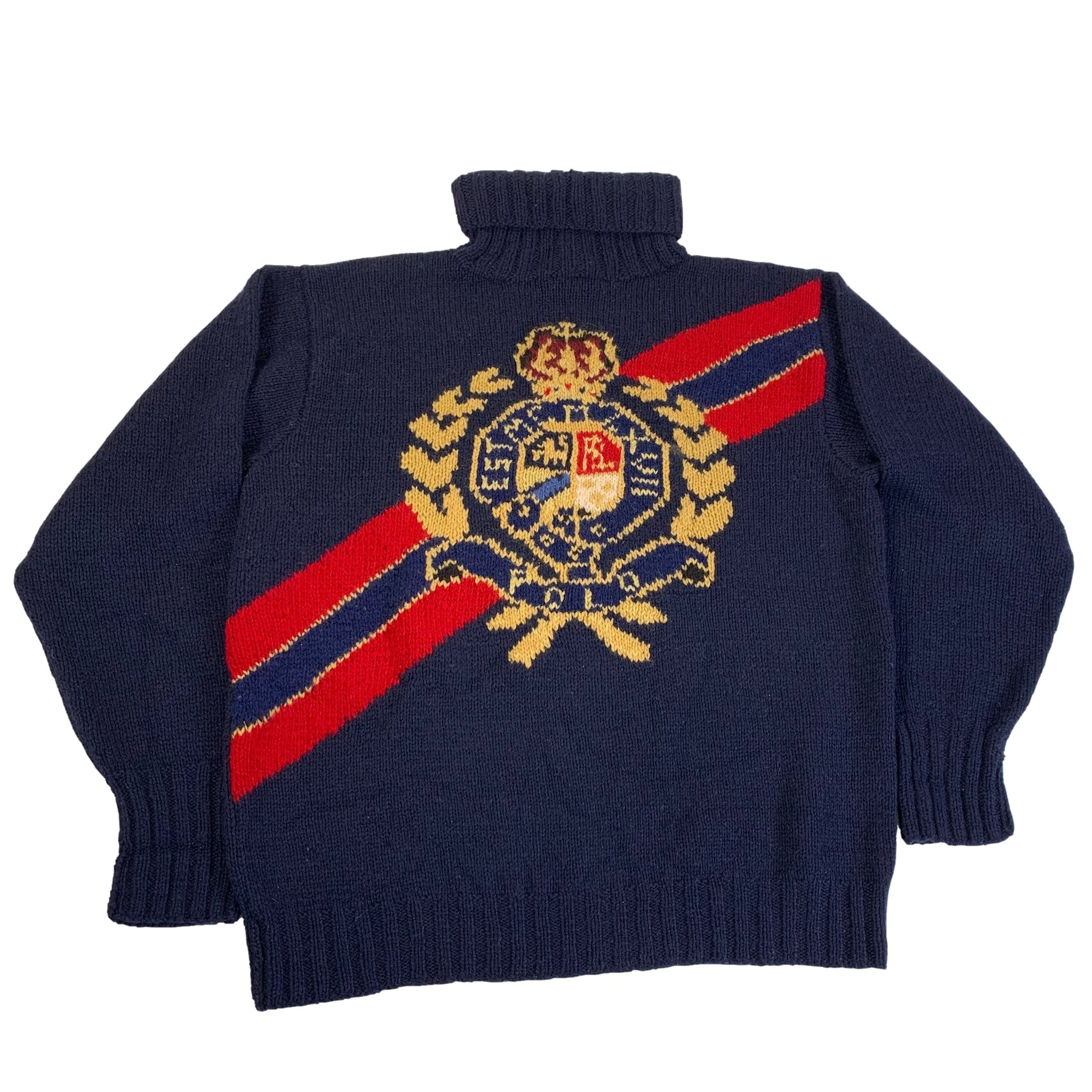 "Vintage Ralph Lauren Polo ""Crest"" Wool Sweater"