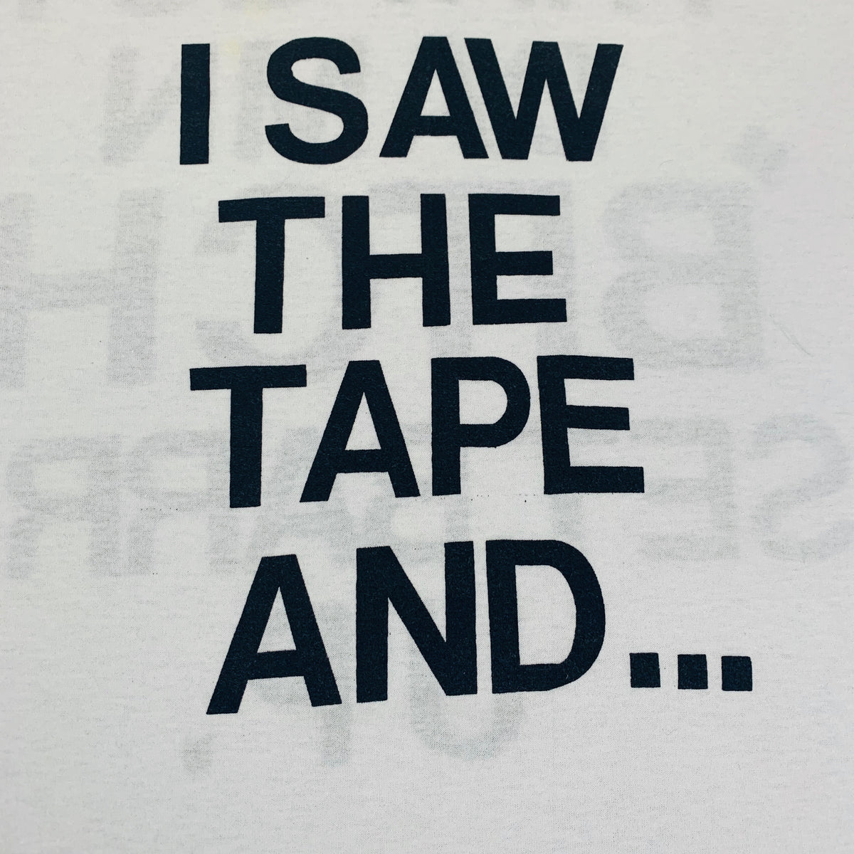 "Vintage Marion Barry ""I Saw The Tape And..."" T-Shirt"