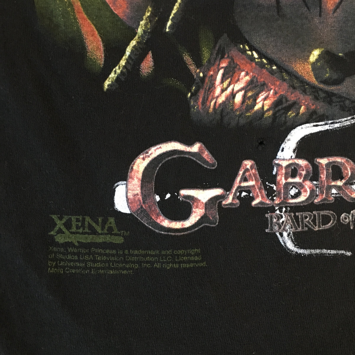 "Vintage Xena Warrior Princess ""Bard Of Potidaea"" T-Shirt"