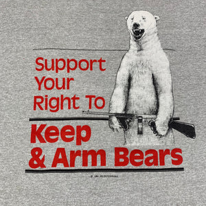 "Vintage Keep & Arm Bears ""Support Your Right"" Ringer T-Shirt"