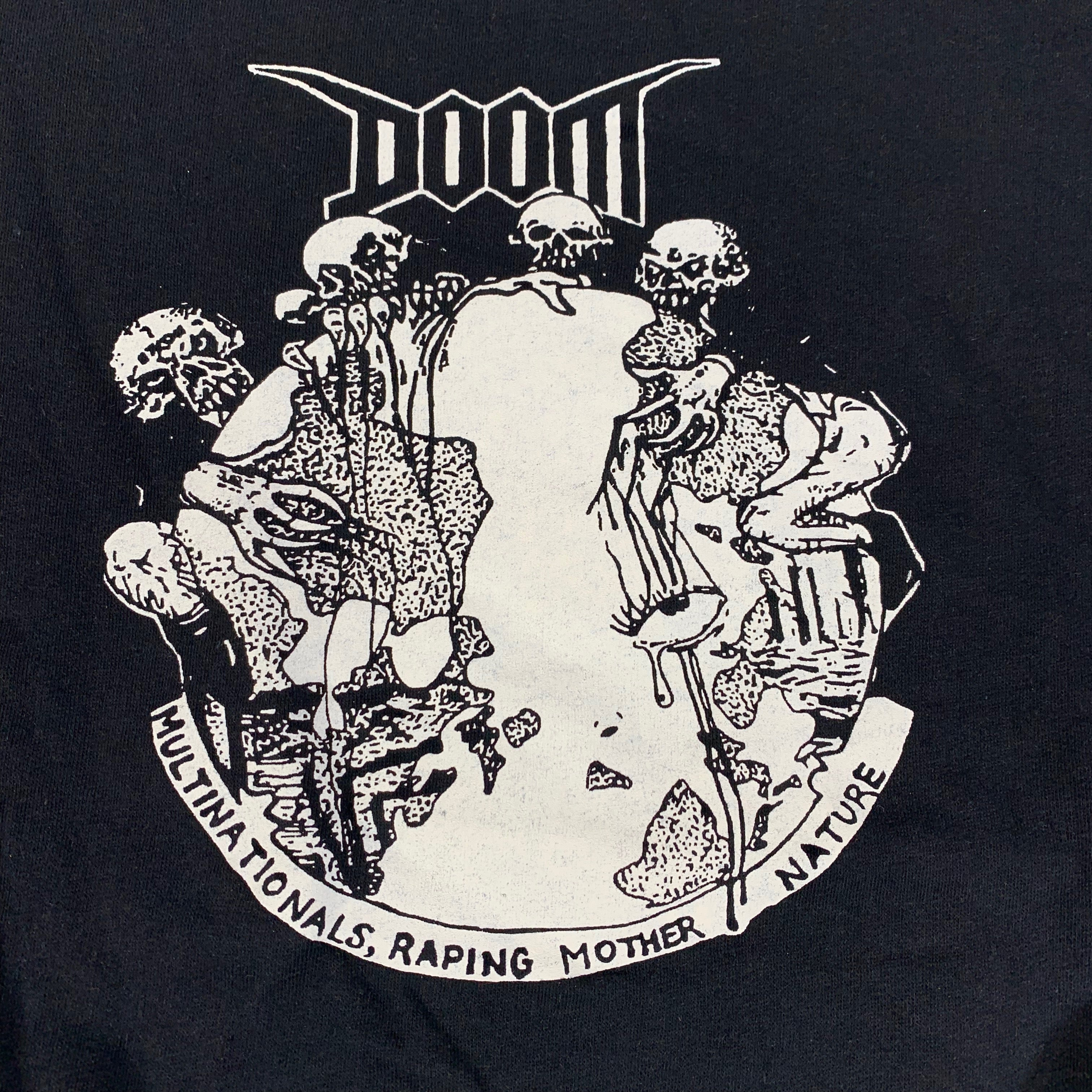 "Vintage Doom ""Multinationals, Raping Mother Nature"" Crewneck Sweatshirt"